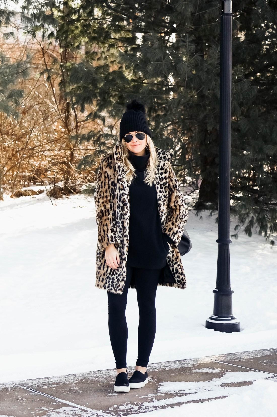 Fur Leopard Coat