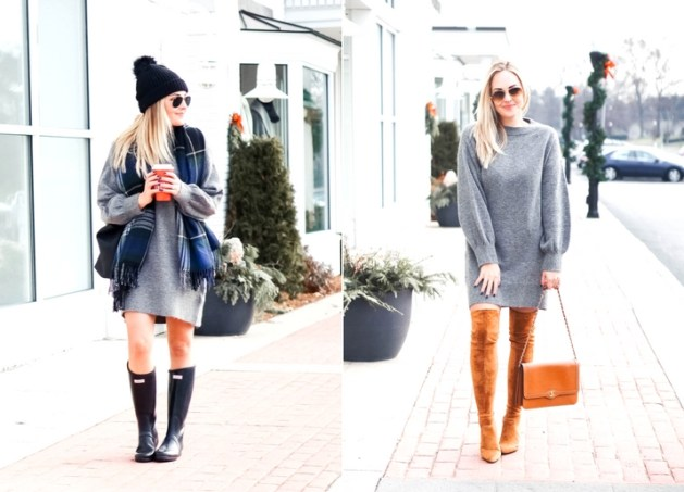 Styling A Sweater Dress From Day to Night