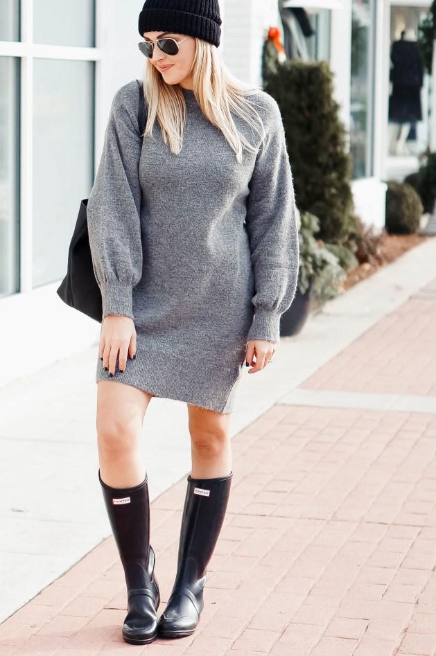 Sweater Dress Outfit Idea