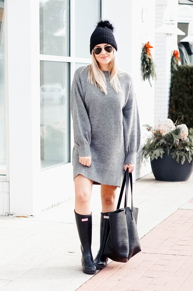 What to wear with a sweater dress