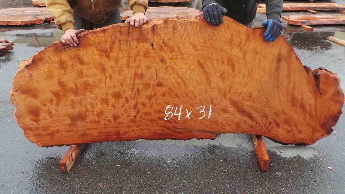 Redwood Burl Slab for Custom Wood Countertops