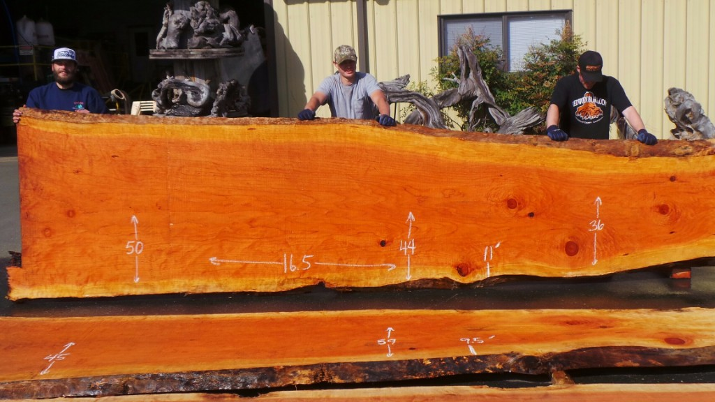 New Growth Redwood Slab for Rustic Dining Table or Conference Table