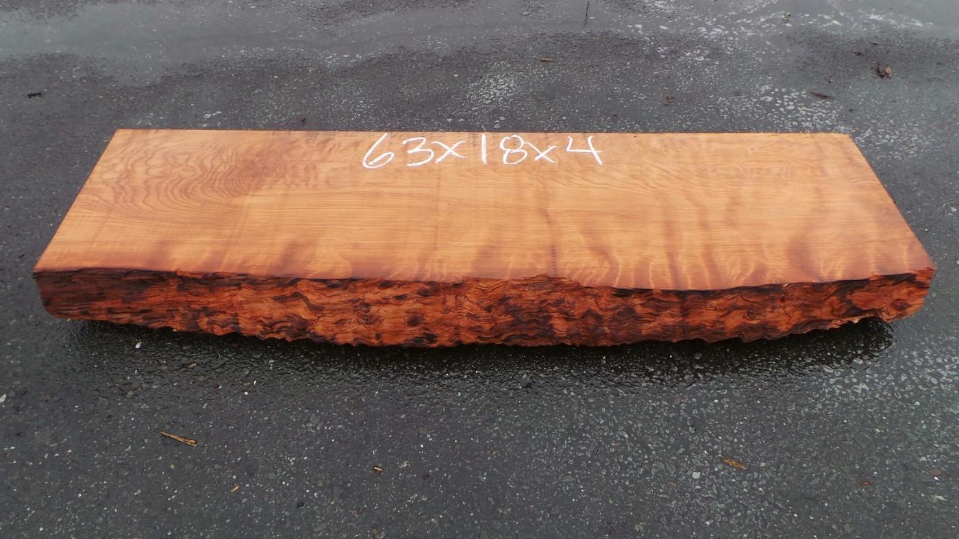Curly Redwood Mantel