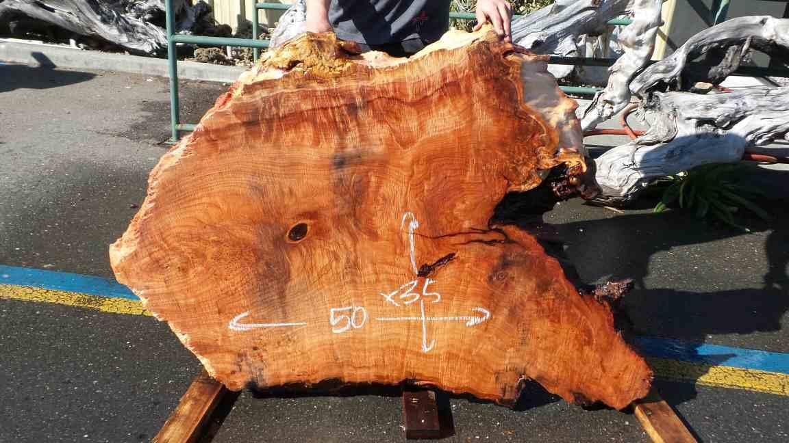 Redwood Triangle Coffee Table Slab