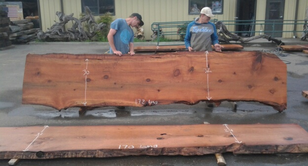 Ethically Salvaged California Redwood Table Slab