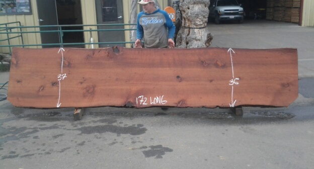 Old Growth Redwood Table, Counter Top or Rustic Wood Island.