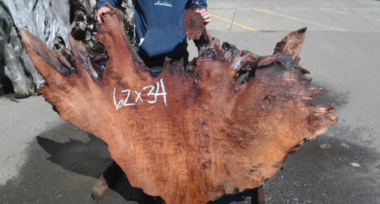 Redwood Burl Live Edge Slab ~ Very Nice Character