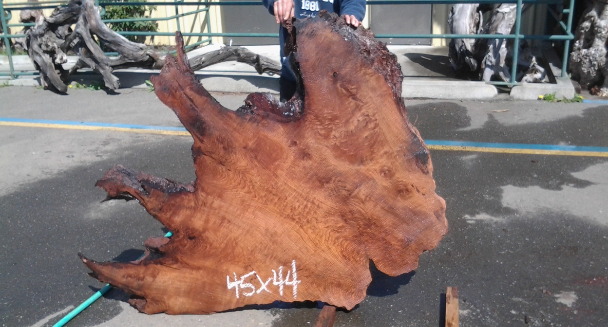 Redwood Slab for Single Slab Wood Table