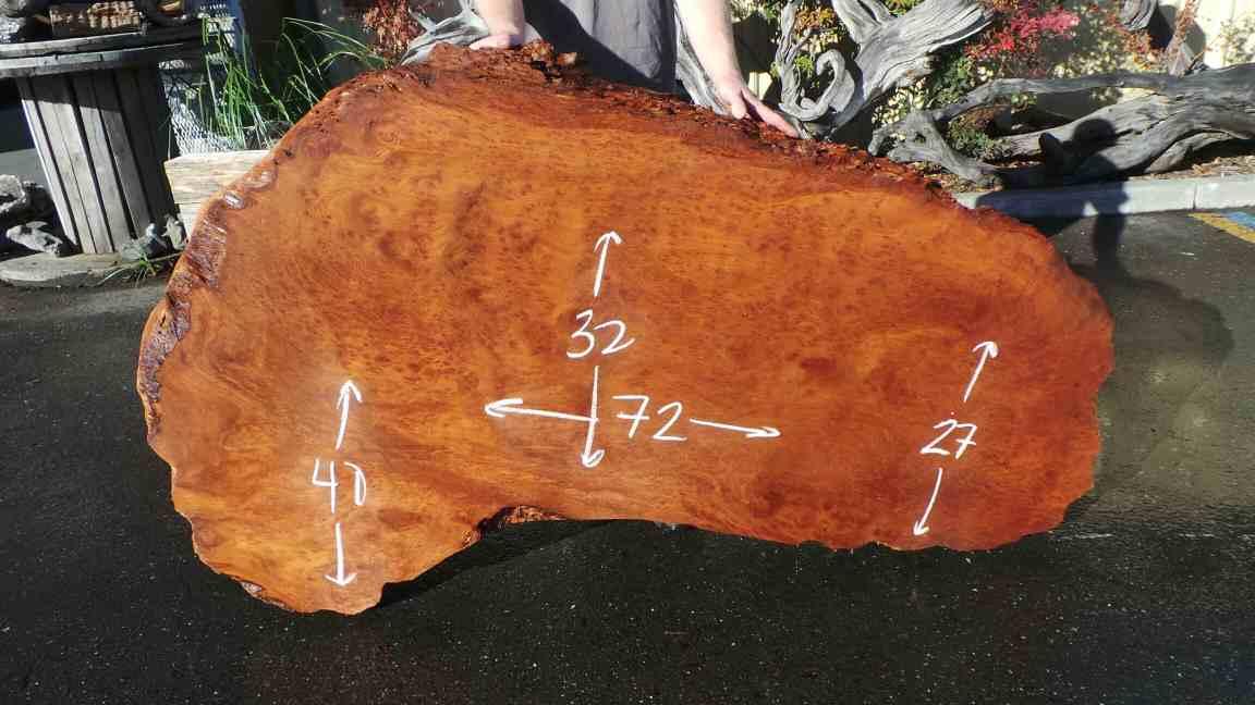 Redwood Birdseye Wood Table