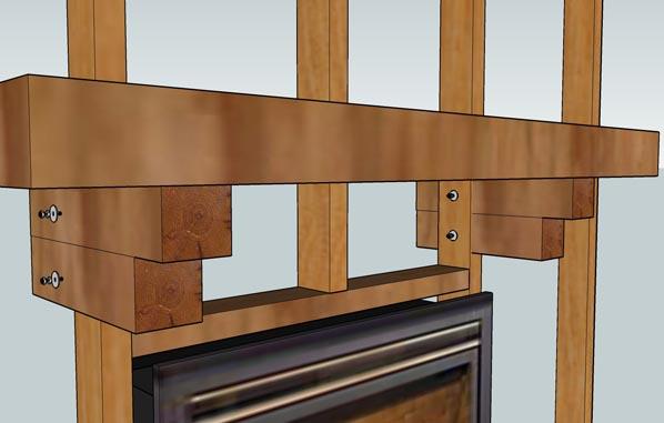 Fireplace Mantel Installation - Corbel Method