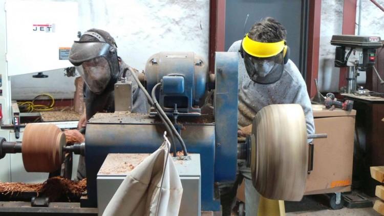 Turning Two Bowls on One Lathe