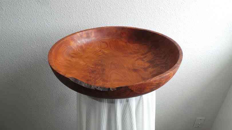 Hand Carved Redwood Burl Wood Platter