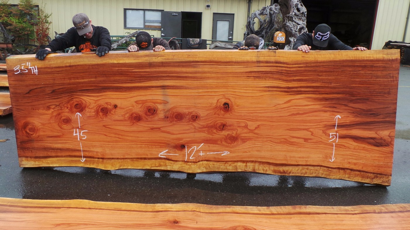 Redwood Swirled Wood Grain Counter