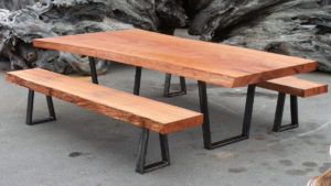 Example of live edge table and benches - Live Edge Tables