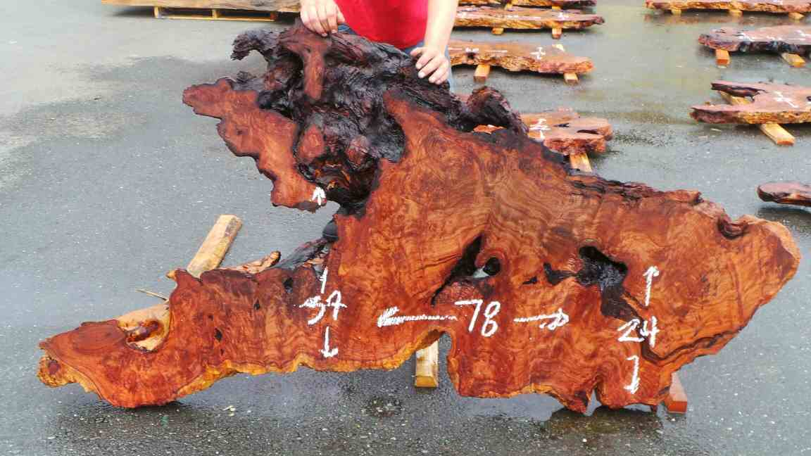 Redwood Headboard Slabs - Unique Burl Wood Grainy Head Boards