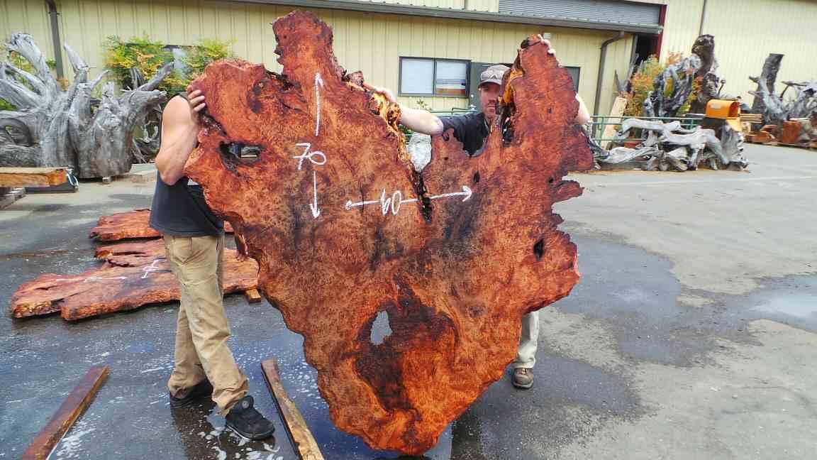 Redwood Heart Shaped Wooden Headboard
