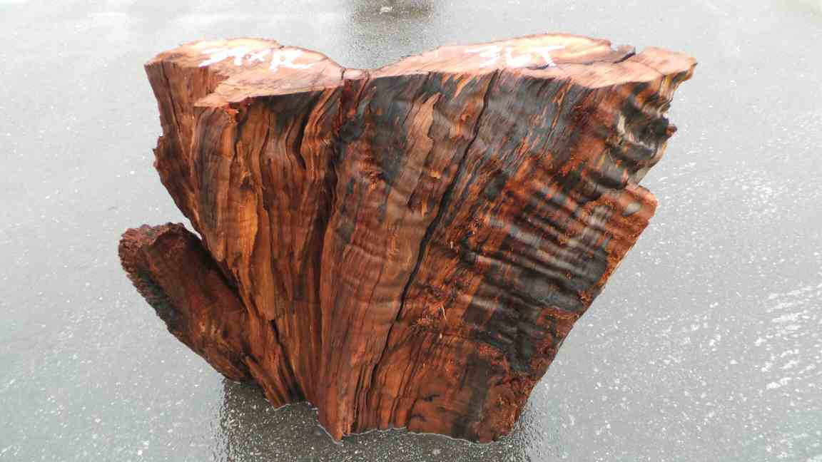 Burl wood table base