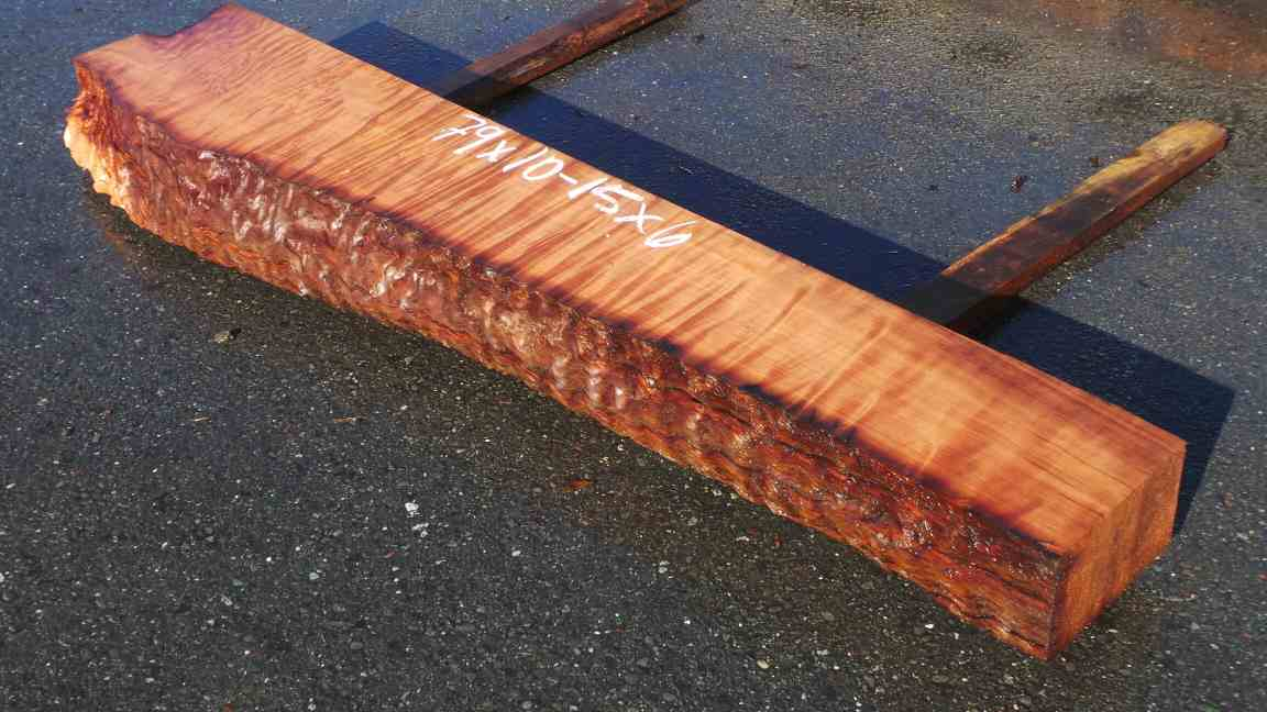 Curly Striped Mantel - Old Growth Redwood