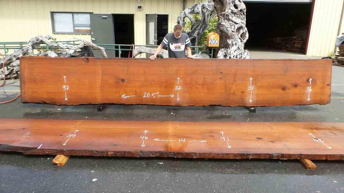 Live Wood Countertops - Redwood Live Edge Desk, Table, Kitchen Island