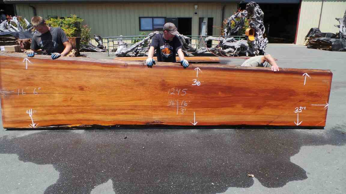 Outdoor Rustic Dining Table Redwood Slab