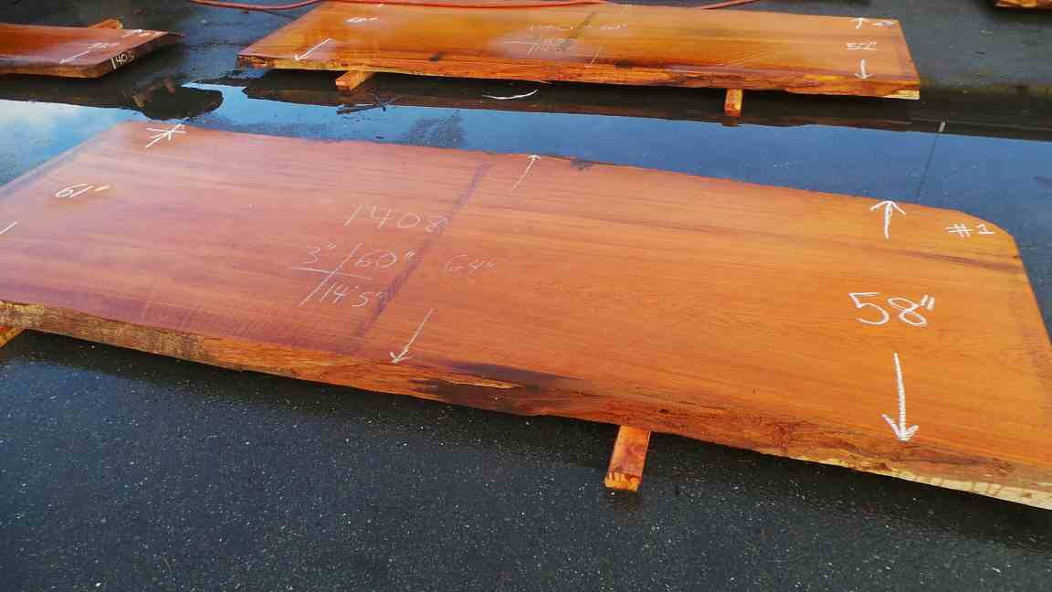 Dining Table Slab - Commercial Live Edge Restaurant Tables