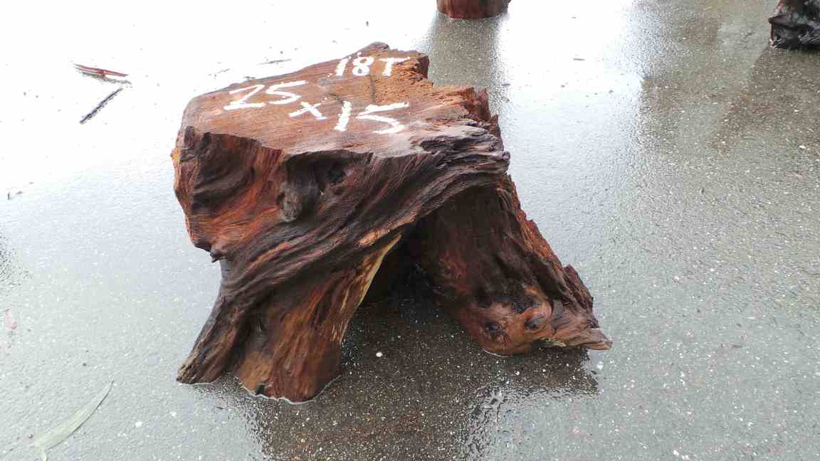 Redwood Burl Tree Stump Foot Stool