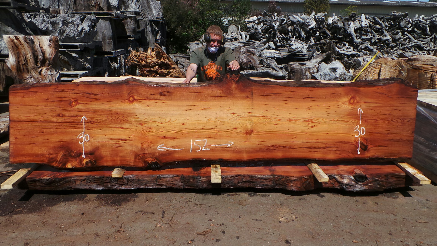 Raw wood bar slab