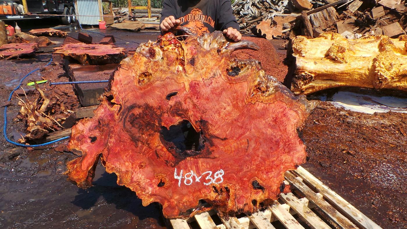 DIY Epoxy Resin Redwood Slab