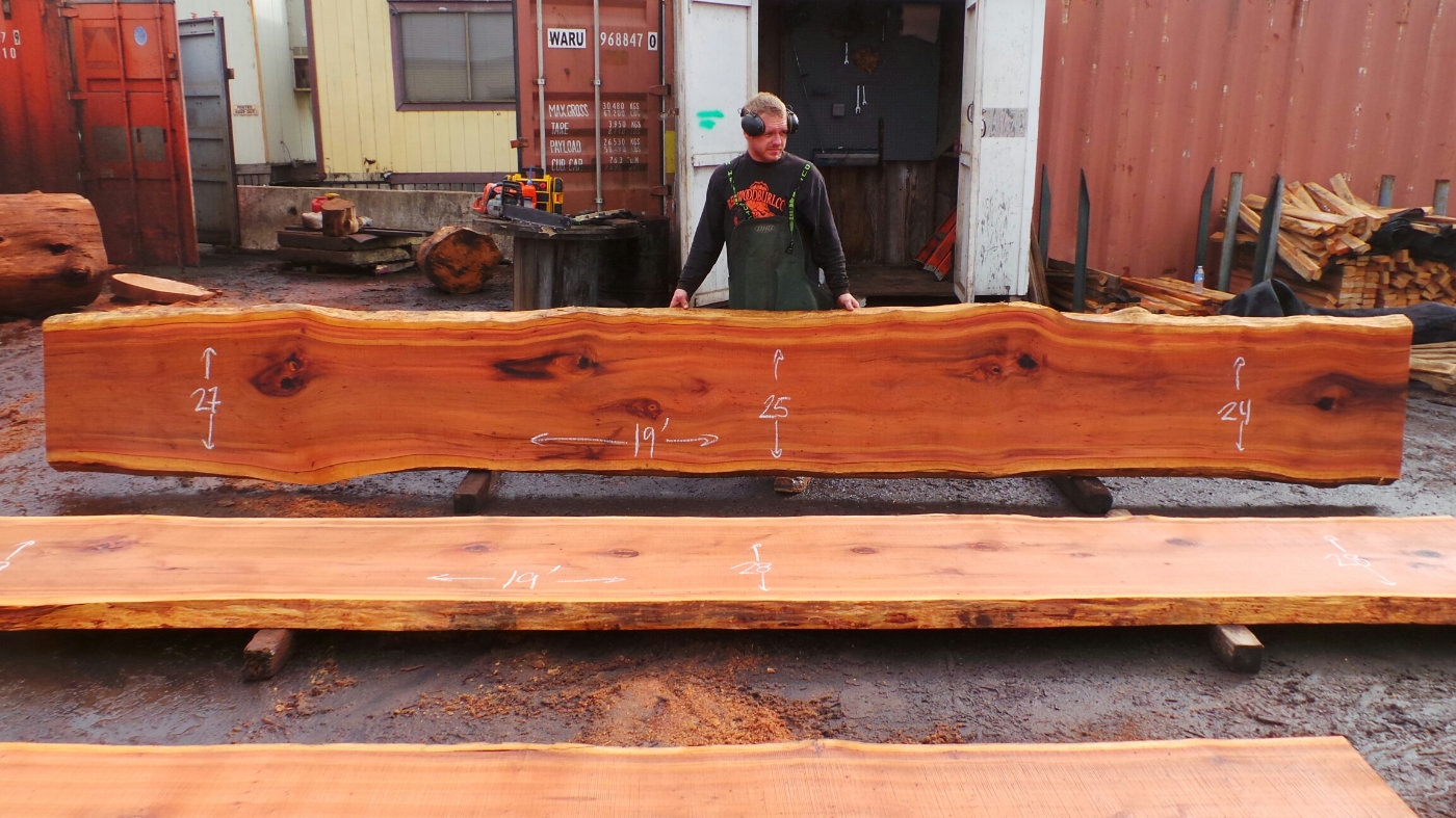 floating wood countertop