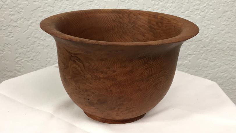 Lipped Burl Wood Bowls - Burly Texture/Pattern