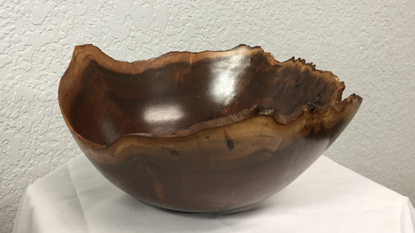 Raw Wood Bowl - Hand Carved Wooden Art