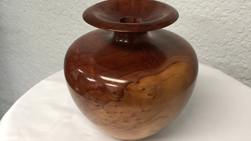 Birdseye Wood Burl Vase