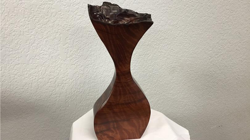 Hand Carved Redwood Burl Flower Vase - Decorative Burls