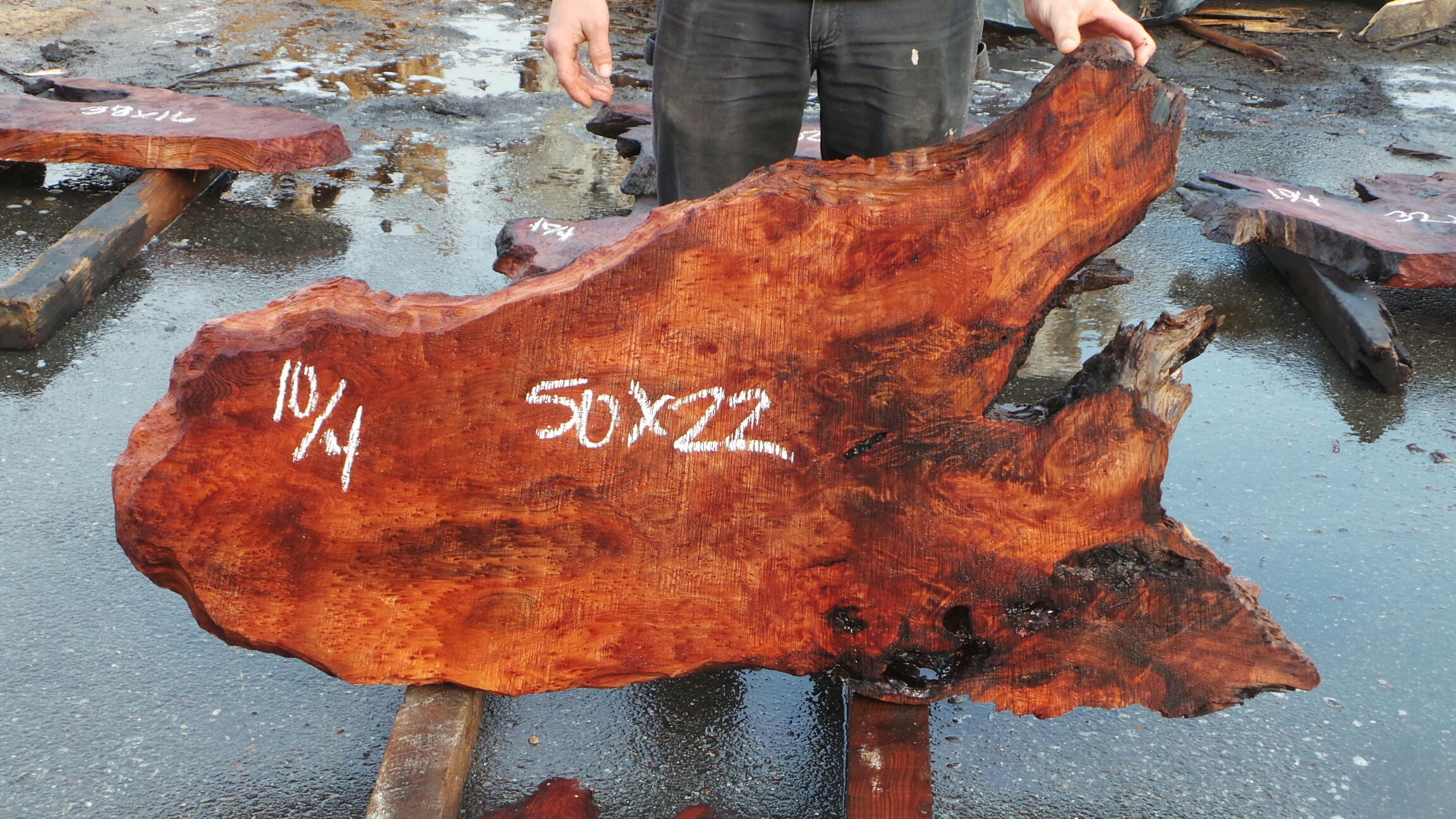 Redwood Live Slab Table Top