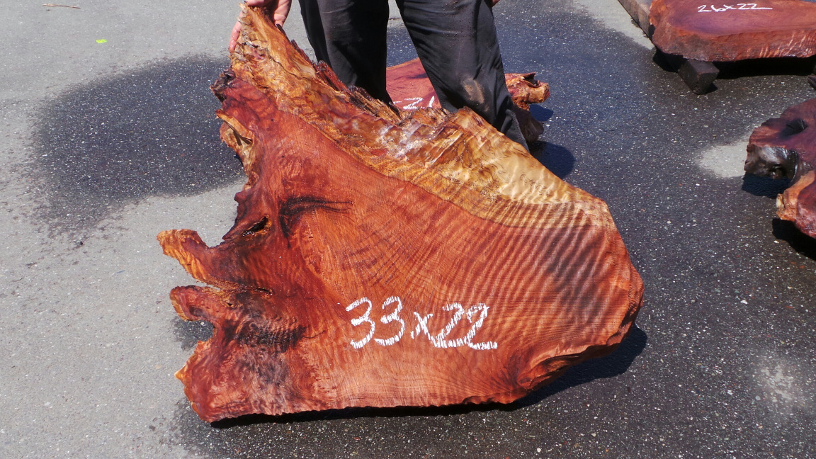 Small Curly Redwood Slab