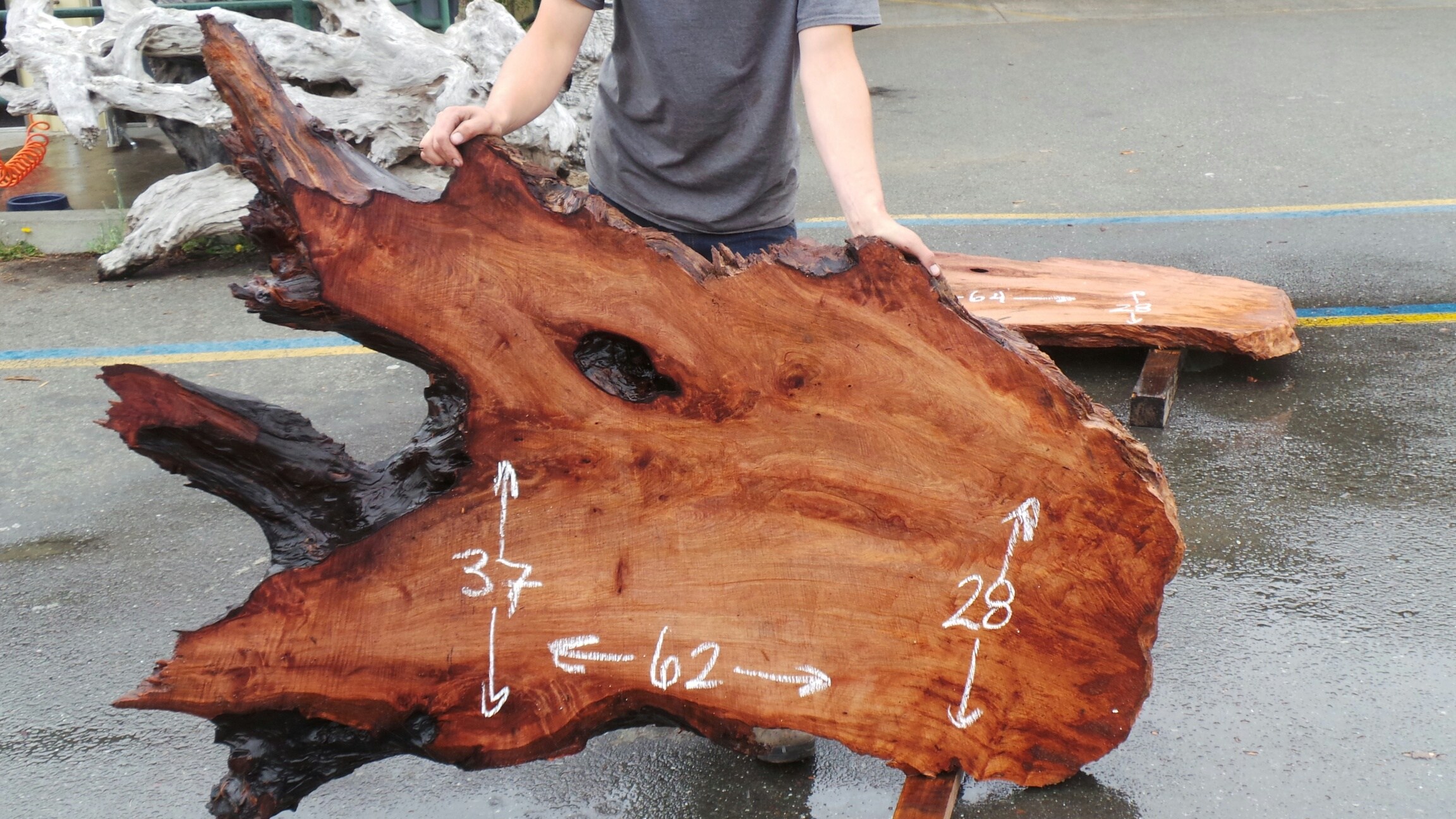 Best Live Edge Tables - Redwood Slabs with Natural Holes