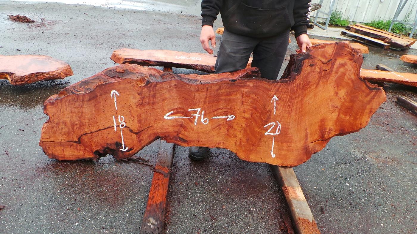 Distinguished Redwood Slab