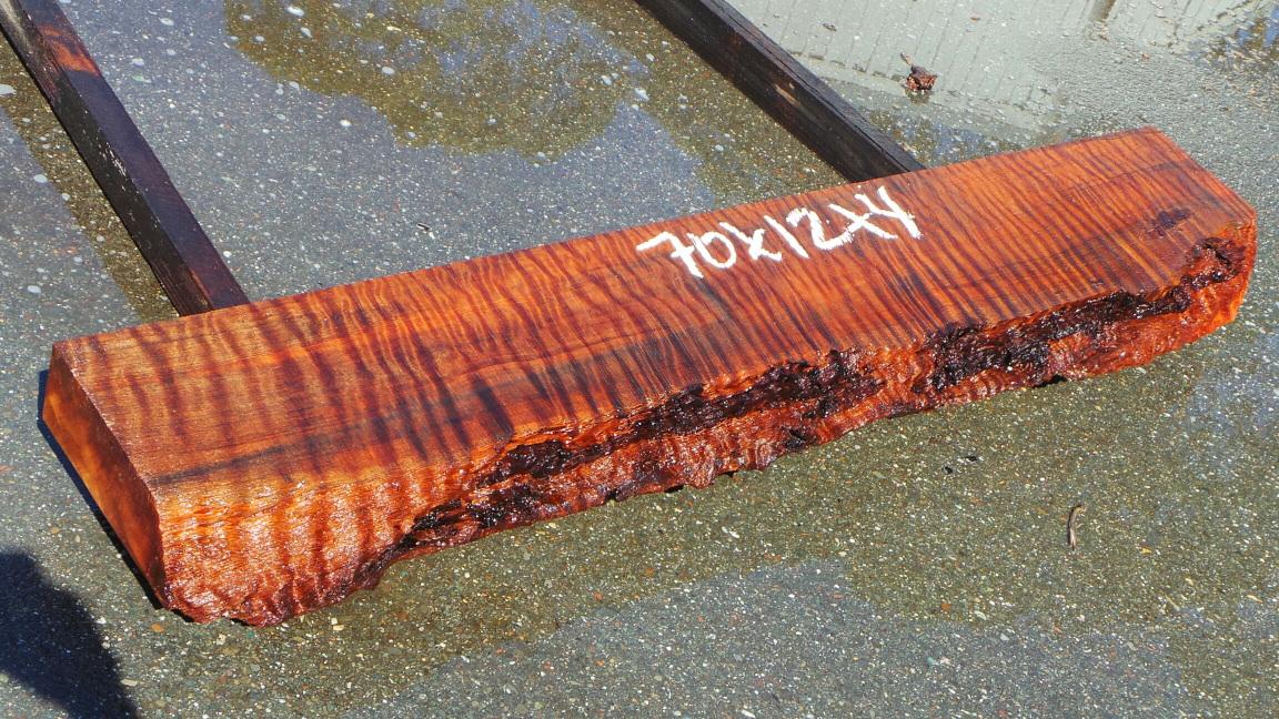 Tiger stripe redwood mantel