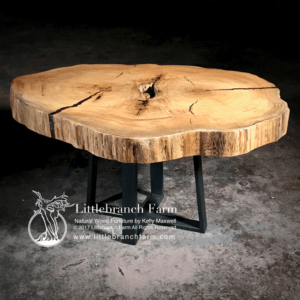 Double Heart Cypress Wood Table