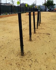 main street dog park weave poles