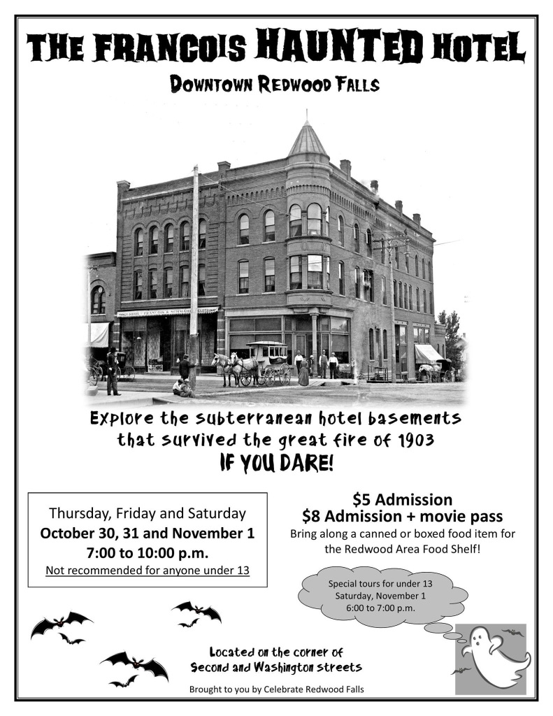 The Francois Haunted Hotel Downtown Redwood Falls