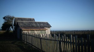 Mendocino beach fences