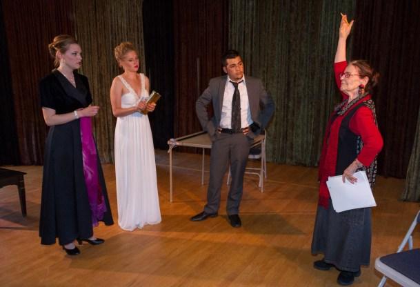 Adriana Hardy with Sarah Neely, Norika Zehnder and Roberto Garza
