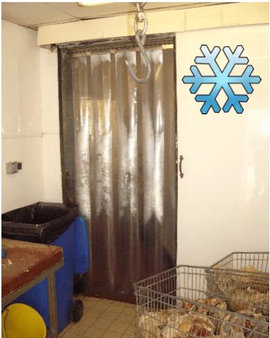 Freezer Strip Curtains  Redwood Strip Curtains