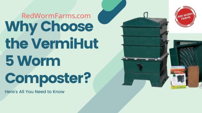VermiHut 5 Worm Composter - RedWormFarms.com