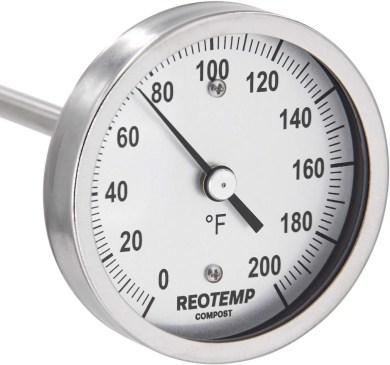 REOTEMP Heavy Duty Compost Thermometer redwormfarms.com