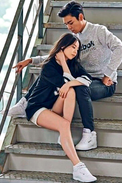 Sohee Reebok Freestyle campaign with Kim Soo-hyun
