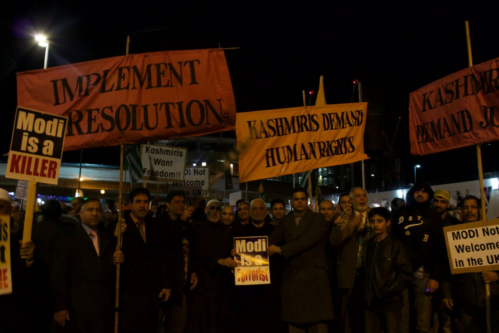 Indian Prime Minister Modi Greeted By Protesters At Wembley On His UK Visit (2/6)