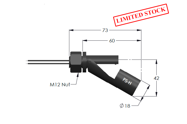 FS-H Float Switch for Horizontal Mounting