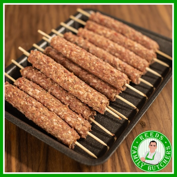 Buy a £10 tray of Lamb Kofte Kebabs online from Reeds Family Butchers